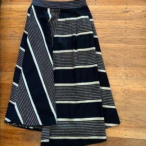 Anthropologie Asymmetrical linen skirt